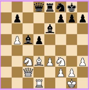 Fier-Molina: 20... Be6 não impede o tático 21.Cxd5!