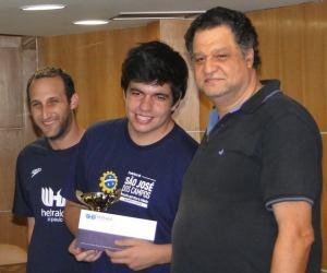 Durante o XVII IRT da Hebraica, onde foi campeão