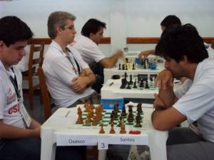 Jogando ao lado de um GM extraordinário, Vescovi, nos Abertos do Interior (SP)
