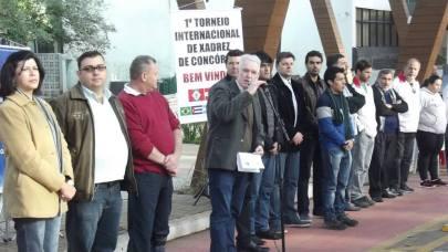 Prefeito João Girardi fala em prestigiada cerimônia de abertura